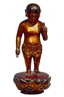 1. Sculpture of Buddha-child